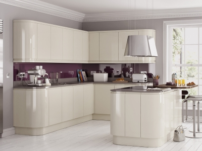 Handleless high gloss clasically chic-kitchen centre liverpool