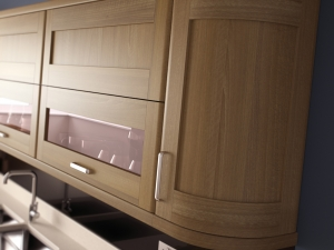 Ohio light walnut shaker style curved doors-kitchen centre liverpool