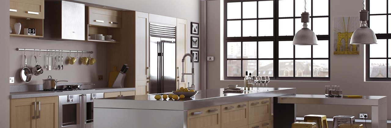 Stylish oak softer profile shaker doors-kc liverpool